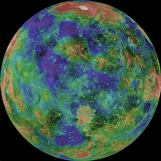 Venus in earth colors