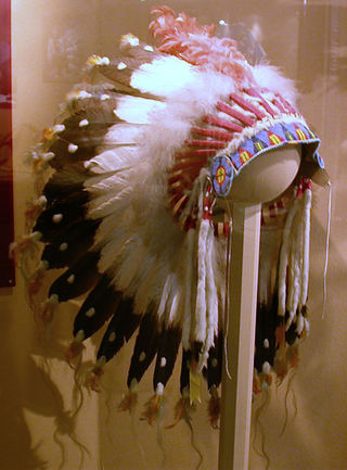 Feathered headdress