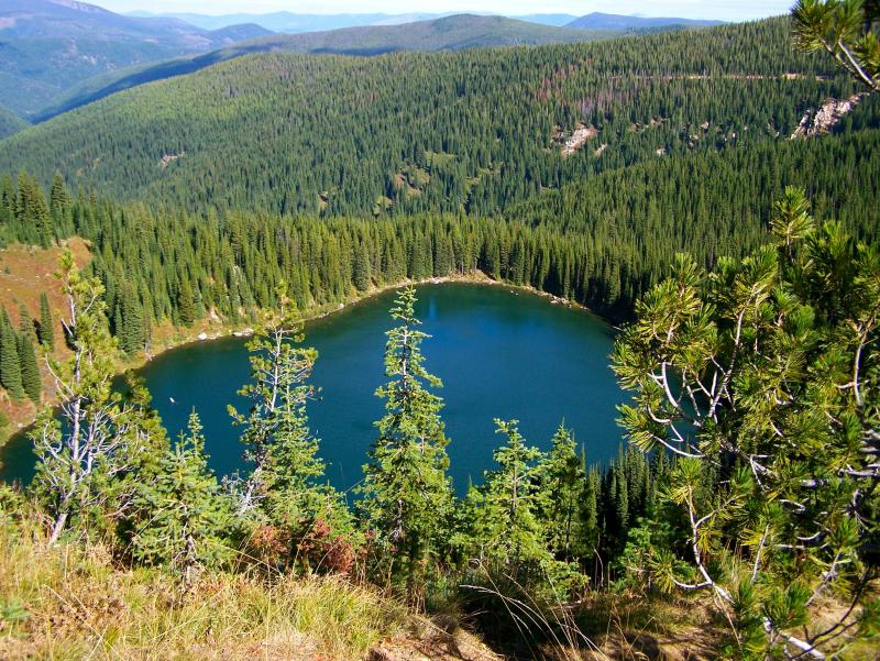Lake on top